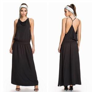 One Teaspoon Le Rosa Maxi Tank Dress - Black color